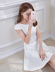Real shot summer Korean women's white Slim was thin fragrance OL temperament skirt ladies dress