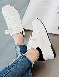 Damen-Sneaker-Lässig-PU-Flacher Absatz-Leuchtende Sohlen-Schwarz Grün