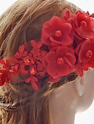 Для женщин Винтаж Очаровательный Для вечеринки На каждый день Заколка,Все сезоны Ткань Имитация Рубин