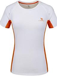 Femme Tee-shirt Camping / Randonnée Escalade Course/Running Sports d'équipe Ski de fond Respirable Séchage rapide Eté Blanc-Camel®