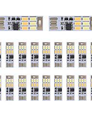 Brelong dimming usb 3w 6x5730 noite luz toque toque toque cor dupla luz (dc5v) 20pcs
