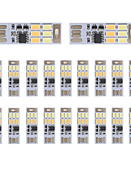 Brelong gradation usb 3w 6x5730 lumière nocturne touche touche touche double lumière couleur (dc5v) 20pcs
