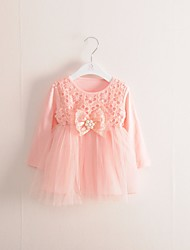 Girl's Casual/Daily Floral Dress,Cotton Summer Long Sleeve