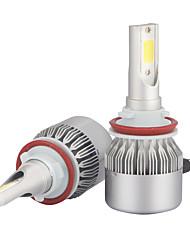 H11 led phares led phares avec 2 pièces de kits de conversion 36w 3600lm bridgelux cob chips antibrouillard