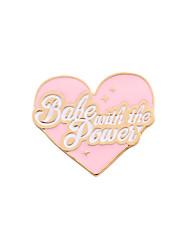 Женский Девочки Броши Любовь Сердце Дружба обожаемый Симпатичные Стиль Эмаль Сплав В форме сердца Бижутерия Назначение Свадьба Для