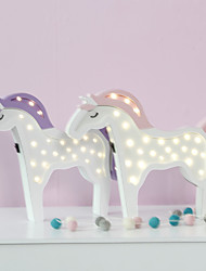 Nordic Style LED Night Light Table Lamp Wall Lamp Wall Decoration LED Ornament Children Room Decoration  Pretty Pony Cartoon Lamp