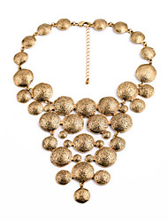 Women's Statement Necklaces Round Chrome Unique Design Fashion Gold Jewelry For Wedding Congratulations 1pc
