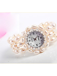 Women's Wrist watch Quartz Pearl Band Pink