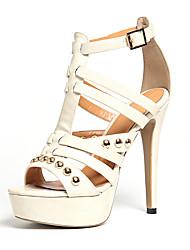 Women's Heels Spring Summer Fall Club Shoes Gladiator Customized Materials Wedding Party & Evening Dress Stiletto HeelRivet