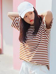 joug réel tourné la version coréenne du nouveau T-shirt oversize loose rayé du vent collège