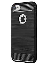 Pour Antichoc Coque Coque Arrière Coque Couleur Pleine Flexible PUT pour Apple iPhone 7 Plus iPhone 7 iPhone 6s Plus iPhone 6s