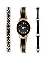 Luxury Ladies Watch Dress Watch Fashion women Watch Wristwatches Bracelet Watch Set Quartz Imitation Diamond Bohemian Charm Bangle(3pcs/set)