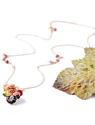 Women's Collar Necklace Flower Chrome Petals Jewelry For Gift Valentine 1pc