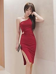 2017 verão nova série coreano oco vestido sem mangas pacote de hip saia vestido vestido sexy de fenda