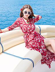 marque de marée thaïlande nouvelle xiao rive gauche même paragraphe impression split plage station balnéaire robe salopette tir réel