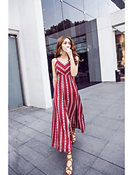 Model real shot burgundy beauty jumpsuit dress beach resort beach dress lace halter bohemian beach skirt
