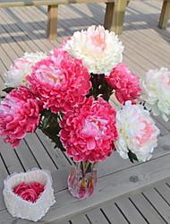 1 Une succursale Plastique Pivoines Fleur de Table Fleurs artificielles 20*20*55