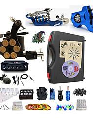 Kit de Tatuagem Completo 2xMáquina Tatuagem rotativa para linhas e sombras 1 x máquina de tatuagem liga para revestimento e sombreamento 3