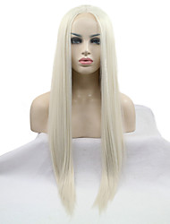 2017 Sylvia Synthetic Lace Front Wig Light Blonde Straight Heat Resistant Synthetic Wigs