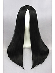 Medium Long Straight Black Synthetic 24inch Anime Cosplay WigCS-234A