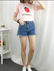 Sign split side zipper jeans shorts Slim was thin outer wear casual shorts female spring and summer tide