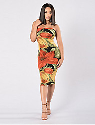 AliExpress 2017 explosion models in Europe and America nightclub sexy ladies bandage dress chest wrapped digital printing