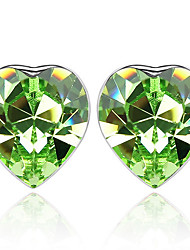 Women's Stud Earrings Crystal Love Heart Personalized Euramerican Chrome Jewelry For Wedding Party Birthday Gift