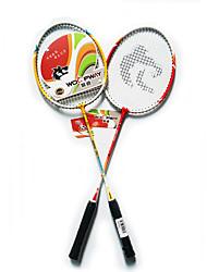 Badmintonschläger Dauerhaft Leichtes Gewicht Rutschfest Ein Paar für Drinnen Draußen Leistung Training Legere Sport