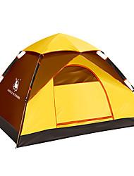 2 Pessoas Tenda Único Um Quarto Barraca de acampamento Portátil-Campismo Exterior-Amarelo
