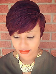 MAYSU cabelo curto cabelo reta perucas de cabelo capless vermelhos macios humanos para mulheres perfeitas