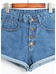 Women's Mid Rise Inelastic Jeans Pants,Simple Slim Solid