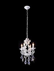Lustre ,  Contemporain Traditionnel/Classique Rustique Autres Fonctionnalité for Cristal Style mini Designers MétalSalle de séjour