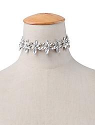 Women's Choker Necklaces Jewelry Single Strand Flower Rhinestone Alloy Flower Style Rhinestone Euramerican Fashion Personalized Jewelry