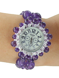 Women's Fashion Watch Quartz Jade Band Purple