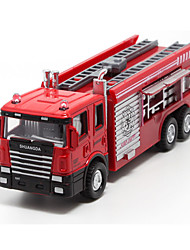 Fire Engine Vehicle Pull Back Vehicles Car Toys 1:60 Metal Plastic Red Model & Building Toy