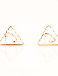 Stud Earrings Copper Geometric Euramerican Fashion Personalized Triangle Shape Non Stone Jewelry Daily Casual 1 pair