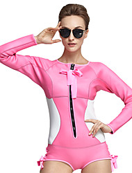 Sports Women's 2mm Wetsuit Skin Breathable Quick Dry Anatomic Design Compression Lightweight Materials Neoprene Diving Suit Long Sleeve