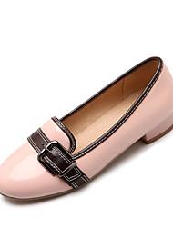 Women's Heels Spring Summer Comfort Patent Leather Office & Career Dress Casual Low Heel Buckle