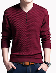 Men's Plus Size Regular Cardigan,Solid V Neck Long Sleeve Cotton All Seasons Thin Micro-elastic
