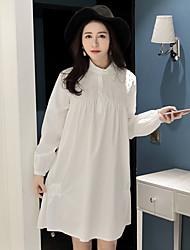 Dress shirt spring new female Heavy beads elastic cuff dress shirt loose skirt was thin