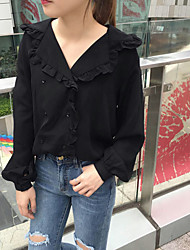 Real shot CHIC wind lady small fresh lace collar shirt female