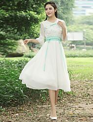 Sign fairy skirt Slim ladies spring 2017 vintage lace embroidered waist dress women