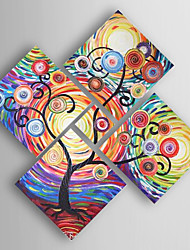 Hand-Painted  Abstract Set of 5 Canvas Oil Painting With Stretcher For Home Decoration Ready to Hang