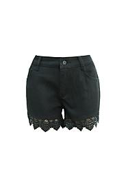 Short bretelles en lacet en crochet à lacets shorts short était en améthyste en Europe et en Amérique