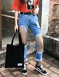 Sign 17 large Korean beggar hole jeans pants