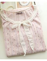 Women Suits Nightwear,Sexy Solid-Medium Cotton White Pink Blue Coral Women's