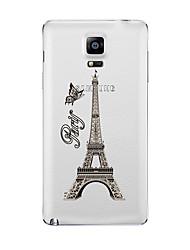 Pour Transparente Motif Coque Coque Arrière Coque Tour Eiffel Flexible PUT pour Samsung Note 5 Note 4 Note 3 Note 2