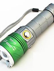 Lanternas LED Lanterna de Luz Negra Lanternas de Mão LED 500 Lumens 4.0 Modo - LED 1 x bateria 18650 Foco Ajustável Recarregável