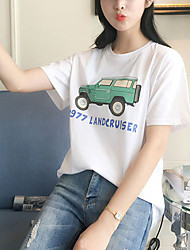 Really making 2017 new Korean female cotton short-sleeved t-shirt printing