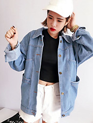 New Korean do old mill white denim jacket retro jacket was thin female loose short jacket coat Students